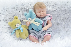"baby (Sculpey Living Doll) / 13cm, OOAK ( ""one of a kind"") (AlexEdg) Tags: lund macro toy miniature doll babies teddy handmade ooak polymerclay windowlight livingdoll 60mmf28 2013 alexedg alledges nikond300"