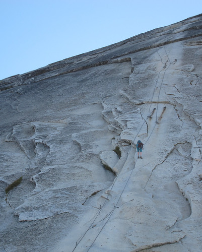 Descending the Half Dome Cables minus the uprights