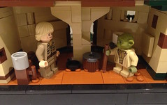 Star Wars: The Empire Strikes Back - Yoda's Hut (Interior) (Forgotten Days) Tags: lego star wars moc yoda luke skywalker hut yodas dagobah