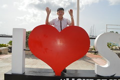 Randolfe Wicker aka Randy Wicker I Love SXM #ILoveStMartin red heart sign in Marigot Collectivité de Saint-Martin France French side of the island of Saint Martin FWI French West Indies (RYANISLAND) Tags: france french saintmartin stmartin saint st collectivity martin collectivityofsaintmartin collectivité collectivitédesaintmartin marigot frenchcaribbean frenchwestindies thecaribbean caribbean caribbeanisland caribbeanislands island islands leewardislands leewardisland westindies indies lesserantilles antilles caribbees