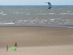 A lone kitesurfer (billnbenj) Tags: barrow cumbria walneyisland earnsebay kitesurfing kitesurfer kite