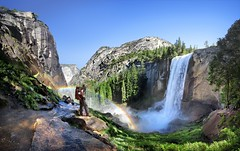 Vernal Fall - Yosemite (Bruce Lemons) Tags: yosemite yosemitenationalpark yosemitevalley california sierra sierranevada mountains hike backpacking hiking wilderness trailjmtjohn muir trail mark vernalfall waterfall misttrail vernalfalls
