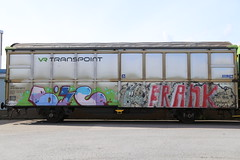 Fr8z (Thomas_Chrome) Tags: graffiti streetart street art spray can moving target object freight train vr cargo suomi finland europe nordic rolling illegal vandalism