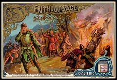 Liebig Tradecard S407 - The Legend of Frithjof 4 (cigcardpix) Tags: tradecards advertising ephemera vintage liebig chromo