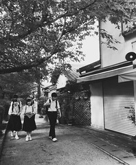 () Tags: nature life city day outdoors people students travel tree   snapshot white black kyoto japan iphone