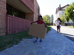 P1260781 (Widener University) Tags: movein studentmoveinday freshmanmoveinday freshman transfer boxes bins unload volunteers faculty staff
