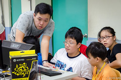 DSC_0725 (roger528852momo) Tags: 2016           little staff person explore summer camp hokuzine ever worker china youth corps ying qiao elementary school arduino robot food processing workshop taipei taiwan roger huang roger528852momo