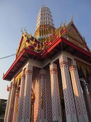 Good luck bracelet from the monk at Wat Chakrawatrachawat Woramahawihan (eltpics) Tags: eltpics thailand bangkok wat buddhism religion architecture bracelet pink lucky luckycharm goodluck superstition hand