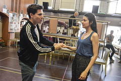 Jacob Ifan and Shanaya Rafaat play Darnay and Lucie Manette (TheatreCloud) Tags: a tale two cities charles dickens twocitiestour uk theatre tour 2018 play adaptation rehearsals rehearsal shots first look james dacre