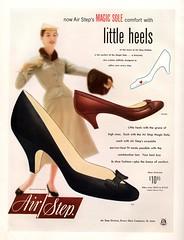 Air Step - Little Heels (jerkingchicken) Tags: highheels vintageshoes 1950sshoes shoead