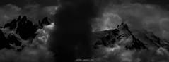 Porte des Tnbres (Frdric Fossard) Tags: paysage montagne nuage glacier massifdumontblanc alpes hautesavoie aiguillesdechamonix aiguilleduplan cimes crtes artes atmosphre dramatique tnbres ombre lumire ambiance altitude hautemontagne chamonix tourmente panorama noiretblanc clairobscur