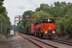 Heading for Butler (Conrail4ever) Tags: bessemer lake erie railroad ble emd sd40t3 sd38ac western pennsylvania train trains ak turn searchlight signal bridge code poles