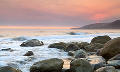 Santa Barbara En Llamas (AleQueroDodge) Tags: california wildfire ocean sea rocks beach elcapitan summer sun waves sunset heat mountains seascape alequero hiking water longexpousure