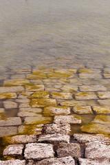 Sin ttulo (Eduardo Valero Suardiaz) Tags: salina saltworks piedra stone camino way path agua water algas seaweed calpe espaa spain