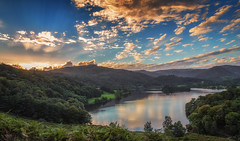 20160910 (RenaldasUK) Tags: explore canon cumbria lakedistrict lake england uk canon6d sunset sun clouds water forest green trees 247028 landscape reflections