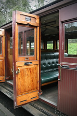 All aboard Puffing Billy. (misty1925) Tags: door carriage seats puffingbilly belgrave train steamtrain victoria dandenongranges