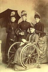 Victorian wheelchair woman (jackcast2015) Tags: paralysed paralysedwoman polio infantileparalysis handicapped disabledwoman crippledwoman wheelchair vintagewheelchair