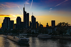 "Sunset over ""Mainhattan"" Skyline, Frankfurt / Germany (_striki_) Tags: sunset frankfurt ffm skyline main mainhattan germany europe hesse hessen am"