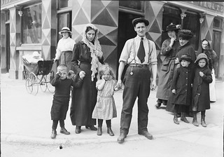 Survivors of the Lusitania disaster in Cobh, Co. Cork