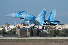 71 LMML 22-09-2016 (Burmarrad) Tags: airline ukraine air force aircraft sukhoi su27ub flanker c registration 71 cn 96310424043 lmml 22092016