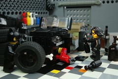 Paint it Black (captain_joe) Tags: toy spielzeug 365toyproject lego minifigure minifig moc car auto jeep garage