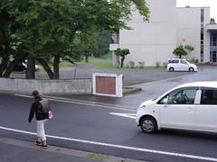 Good Morning from My Window. September 13, 2016 (fukapon) Tags: tweet goodmorningfrommywindow frommywindow  hirosaki  aomori 645z pentax smc pentaxfa645 75mm f28 smcpfa64575mmf28 sghs girl people  schoolgirl