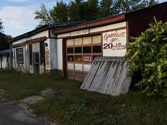 (ELIS ING) Tags: latesummer ruralroute backroads upstatenewyork sociallandscape smalltown abandonedstore oldshopfronts oldsigns earlymorninglight adirondacksregion