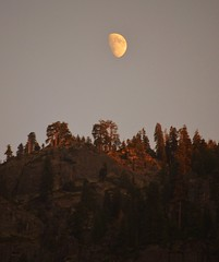 Yosemite evening (Williams5603) Tags: moon yosemite yosemitevalley california ca nationalpark nightphotography night sunset