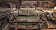 """A 15km  """"l'Aronde""""... (ElfeMarie) Tags: garage voitures seventies car cars decay lost oubli urbex"""