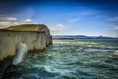 costa de Patagonia (Mauro Esains) Tags: costa mar patagonia golfo san jorge ocano atlntico pico salamanca comodoro rivadavia olas cielo nubes paisaje nikon sigma1835 barranca