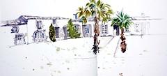 La Rochelle, Journe du patrimoine, ancienne ferme des Crapaudires (Jolle B.) Tags: larochelle croquis aquarelle