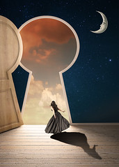 The Key Hole (Cat Girl 007) Tags: conceptualart doorway dreamy entrancedoor fantasy female girl hole keyhole looking lookingaway lookingout lunar magical makebelieve model darkreign12bytrismarie moon mysterious nightsky oneperson photomanipulation standing surreal verticalimage view deviantart whimsical