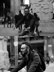 [La Mia Citt][Pedala] (Urca) Tags: 89114 milano italia 2016 bicicletta pedalare ciclicsta ritrattostradale portrait bike bicyclenikondigitale mir biancoenero bn bw blackandwhite
