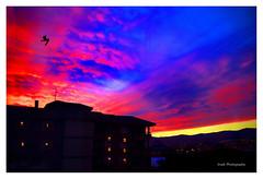 Atardecer (Sunset) (Imati) Tags: atardecer sunset nubes arquitectura luces ventanas pjaro invierno