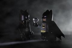 Une lueur dans la nuit (arnaud patoto) Tags: batman catwoman lego miniatites dark night nuit lumire brume dccomics darknight toys jouets superhros hros sony alpha 77ii 105mm