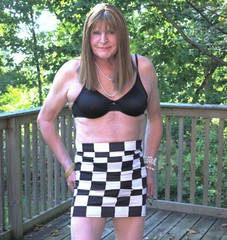 As you may imagine I have a very checkered past! - 1 (donnacd) Tags: sissy tgirl clit clitty tgurl jewels dressing crossdress crossdresser cd travesti transgenre xdresser crossdressing feminization tranny tv ts feminized domina donna red dress scarf heels gold crossed legs pumps shoes panties thong polka dots white blouse earrings hair black stockings tights bra fishnet corset necklace collar