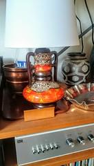 New Shade On Walter Gerhards Lamp-Base (Ahornblatt2012) Tags: wgp walter gerhards lamp base keramik pottery spaceage design classic midcentury modern mcm 70s vintage retro fatlava germany
