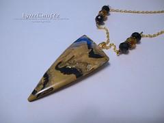 Autumn Mokume Gane III (LynzCraftz) Tags: polymerclay resin pendant jewelry necklace oneofakind handmade