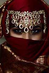 G A L E (DesertWindsPhotography) Tags: art photography jewelry makeup culture indian red orange uae qatar morocco saudiarabia kuwait desert winds women bedouin burgundy gold pink sleep pose