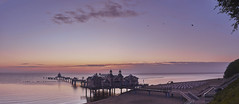 Sellin Sunrise Panorama (JohnnyKa$h) Tags: sellin rgen ostsee balticsea sunrise dusk sigma30mmf14dcdncontemporary panorama beach sea bridge