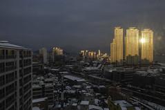 Masan, South Korea (Jim Hart (*)) Tags: sunset dirtywindow