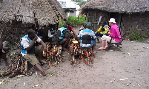 Meeting at Kama community, Zambia. Photo by Froukje Kruijssen, 2013.