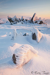Frozen World (etunar) Tags: winter mountain snow cold ice rock wales sunrise landscape nationalpark frost formation geology snowdonia rockformation glyders glyderfach glyderau