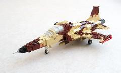 F-5E of VFC-13 'Saints' (1) (Mad physicist) Tags: fighter lego tiger jet usnavy adversary f5e vfc13
