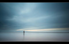 Moments In Time (A-D-Jones) Tags: blue light seascape beach water statue clouds sand long exposure place tide figure anthony lone another crosby merseyside sefton gormleys blundellsands
