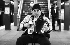 Accordion.. (bryandgg) Tags: new york city music white black station canon subway culture center accordion need rockefeller sir t3i 600d