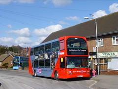 Nottingham City Transport 680 in Gedling (simon835) Tags: city nottingham transport east 44 680 lancs gedling omnidekka scanian94ud yn05wfv go2redline