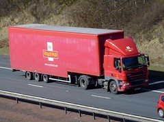 PO58 FSL (Cammies Transport Photography) Tags: road house truck edinburgh mail royal lorry m8 cf flyover daf hermiston po58fsl