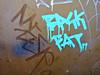 Bask Fat, New York, NY (Robby Virus) Tags: city newyork apple graffiti back big sticker manhattan fat slap backfat bask