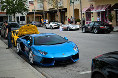 Azure Blue (Matthew C. Photography) Tags: blue italy ford car 35mm photography italian nikon matthew c duo rally azure spyder celebration exotic porsche gt f18 lamborghini v12 2013 d3200 aventador
